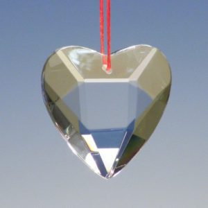 Crystal Heart Christmas Tree Decoration