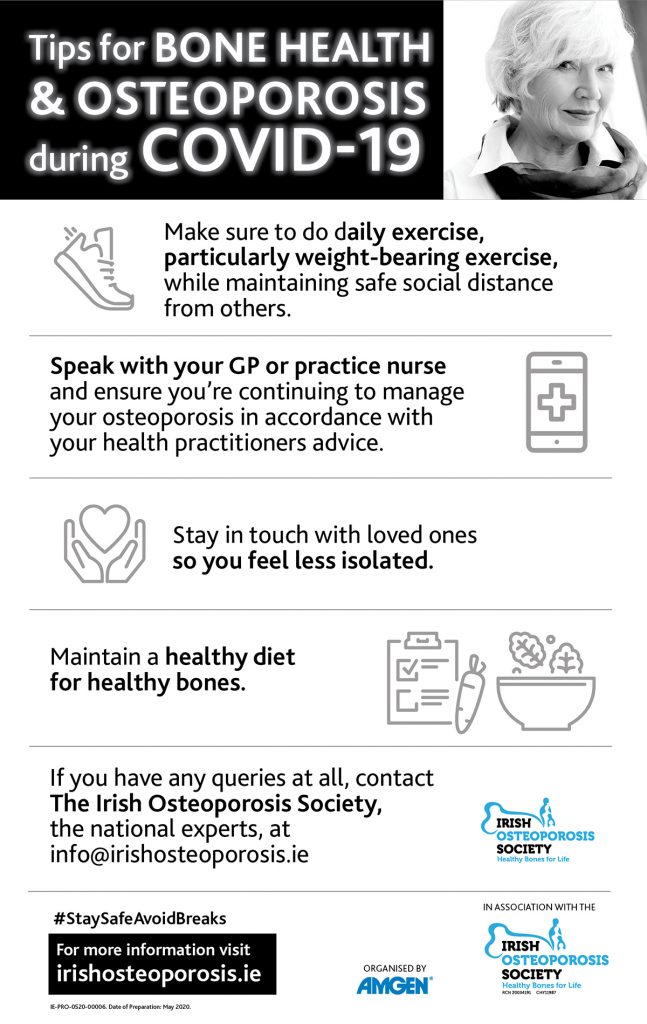 Tips for BONE HEALTH & OSTEOPOROSIS during COVID-19