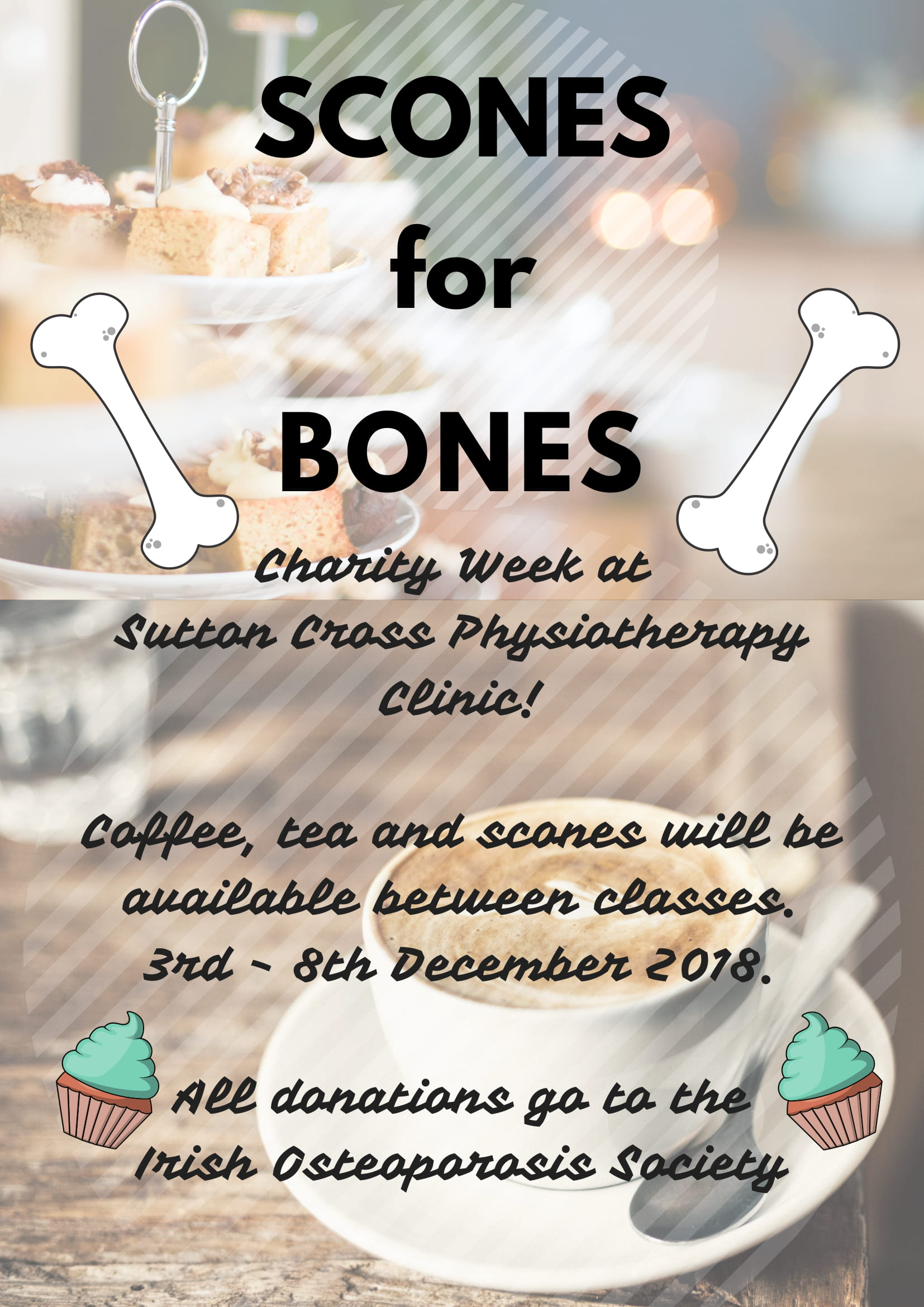 Scones for Bones charity week for the IOS